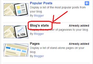 Adding Blog's Stats Gadget