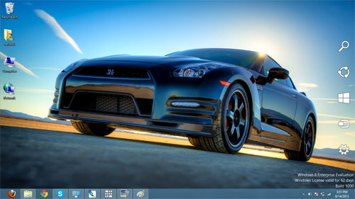 Nissan GT-R Track Edition Cars Theme For Windows 7 And 8