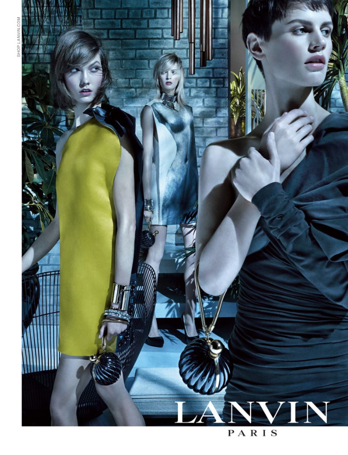 Karlie Kloss, Saskia de Brauw and Daria Strokous Star in Lanvin Spring 2013 Campaign by Steven Meisel