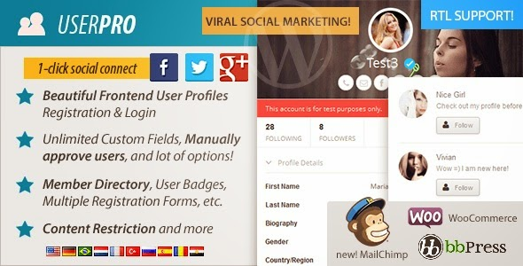 UserPro Nulled – User Profiles with Social Login - WordPress Plugin