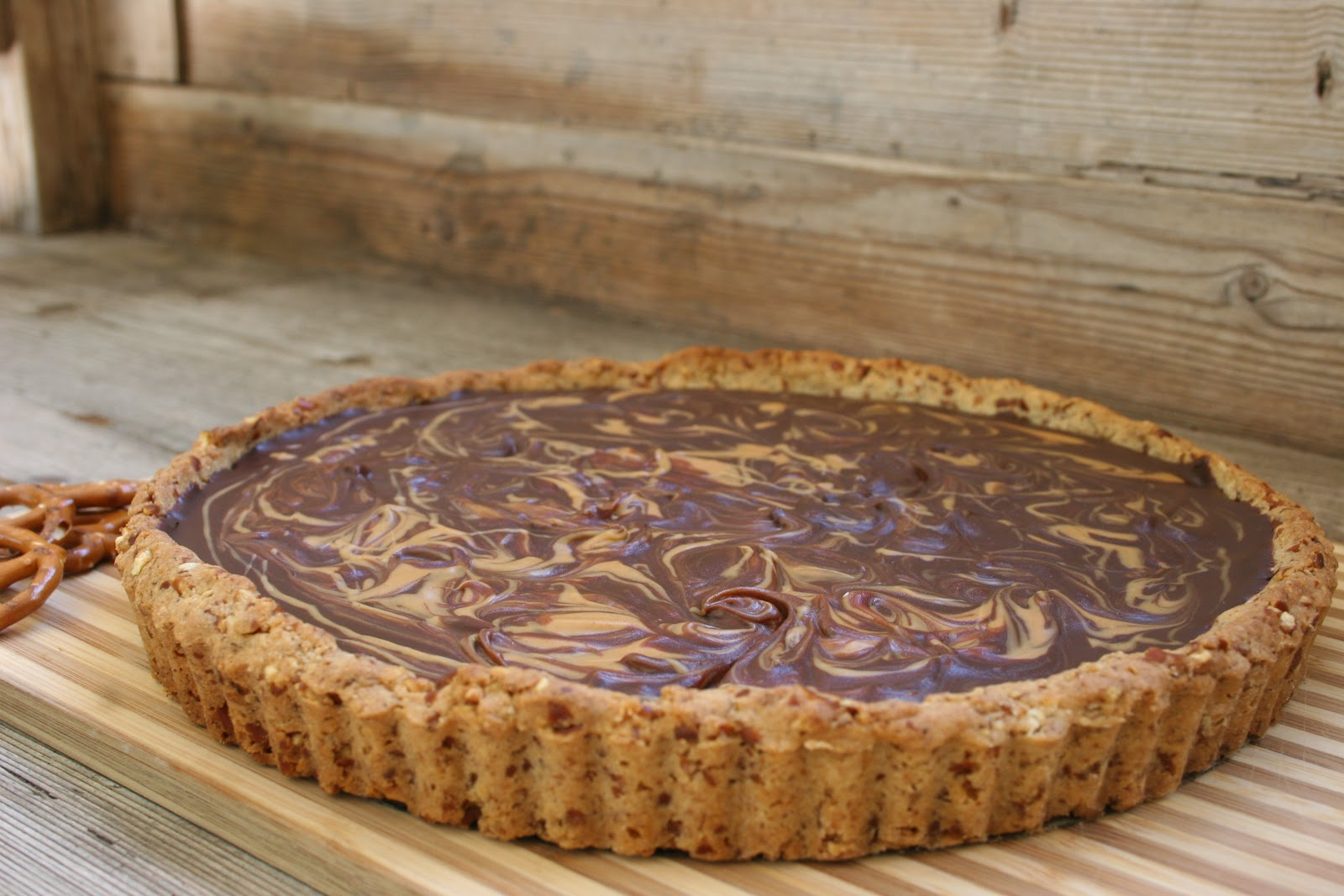 Nothing in the House: Chocolate & Peanut Butter Pretzel Tart