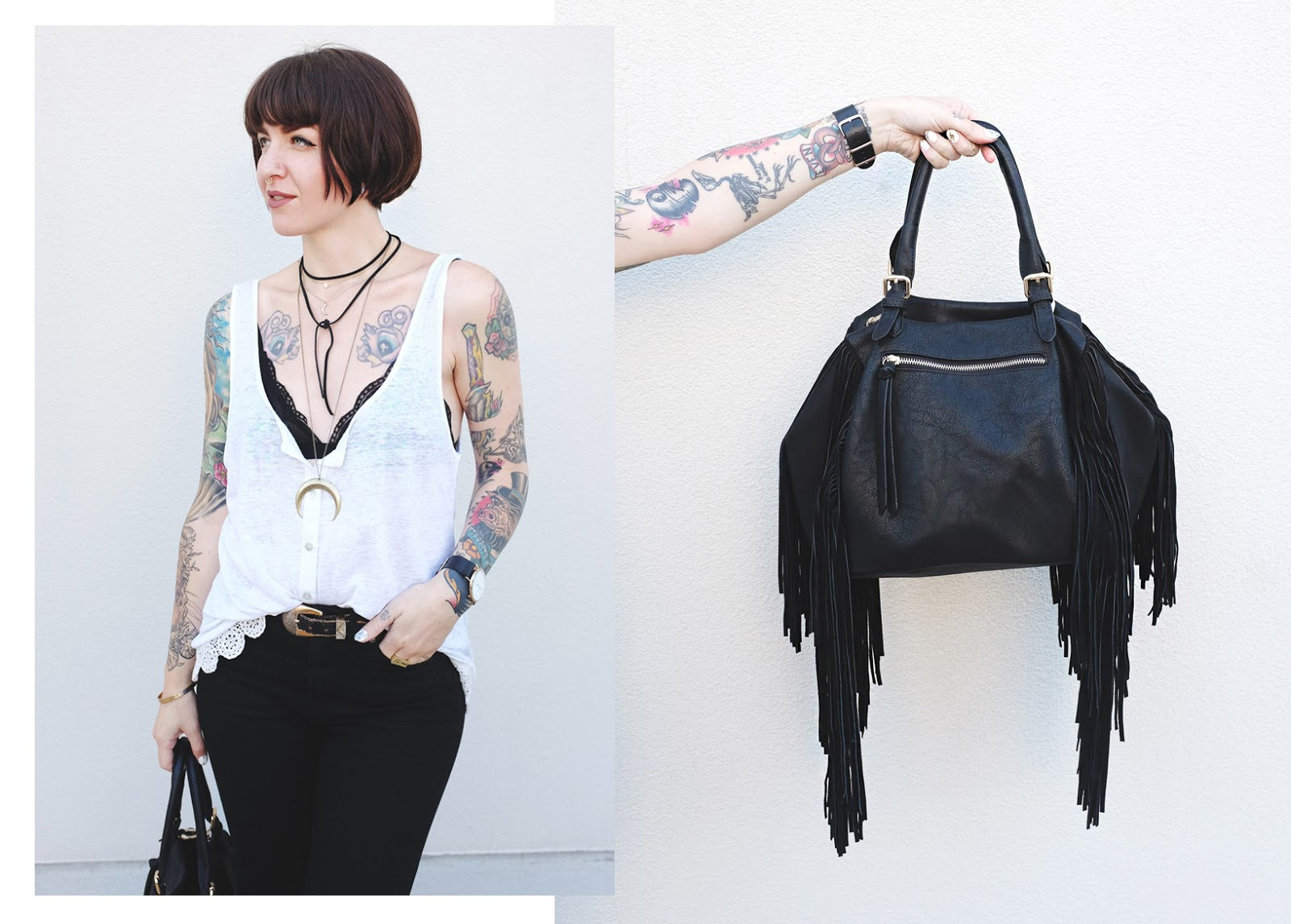 Leather Fringe Bag - Mini Penny Blog