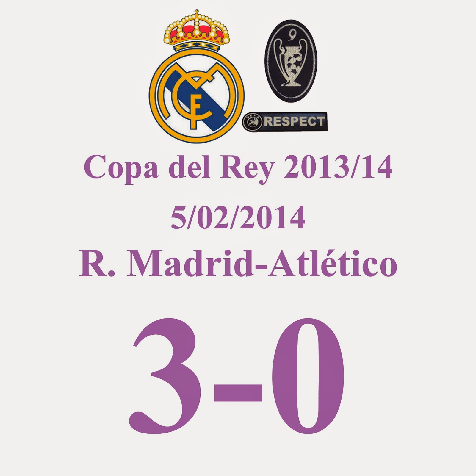 Real Madrid 3 - 0 Atlético de Madrid - 5/02/2014 - Real Madrid golea a un Atlético de Madrid acojonado