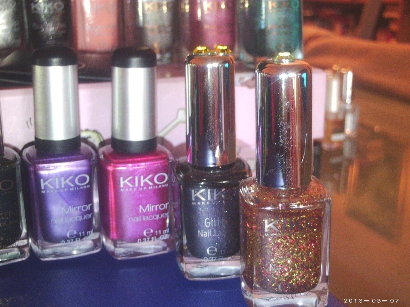 Mi familia de esmaltes de u as kiko cosmetics - Pintaunas kiko efecto espejo ...