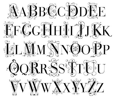 Alphabet in Different Fonts: Graffiti Monogram Fonts. Larrabee style ...