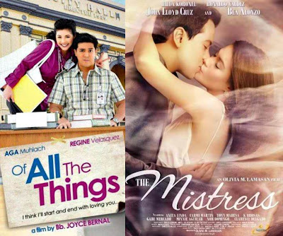 The Mistress Grosses P231-M on 3rd week, Aga and Regine's Of All the Things Rakes P14.5-M on First 5 Days - Box Office Mojo