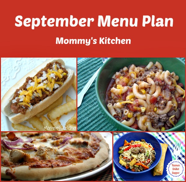 September Menu Plan 2013
