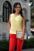 Bluza galben verzui cu accesoriu auriu (MBG)