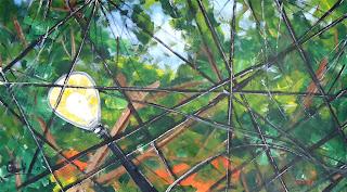 Clameli - Poste no bosque - Acrílico s/ tela