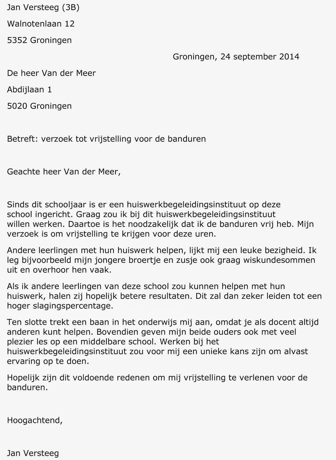 schrijfdossier Sietze Sjollema: Zakelijke brief