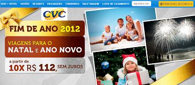 PACOTES ANO NOVO CVC 2012-2013 PREÇOS