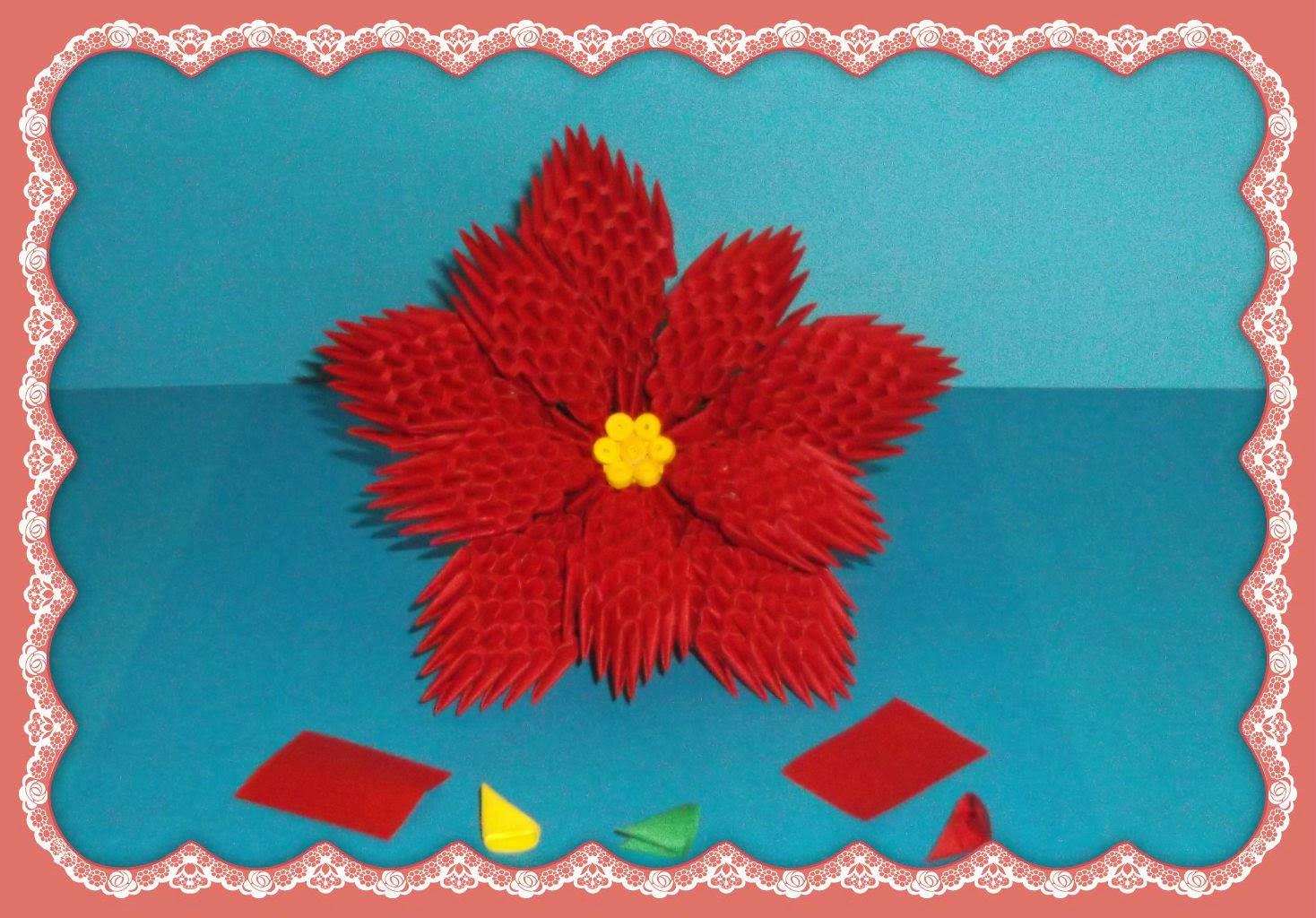 Origami Maniacs 3d Origami Poinsettia
