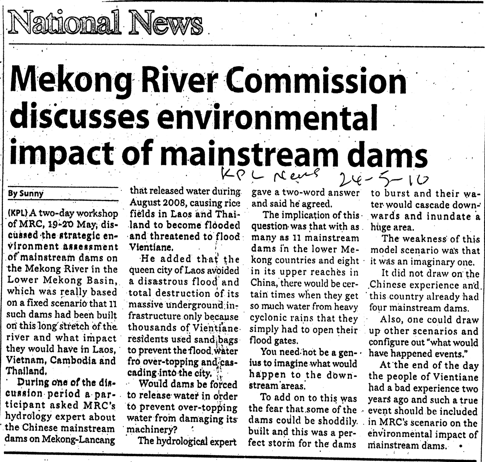 mekong river upstream privileges and downstream threat environmental sciences essay Suggestion that (a) the poor cause environmental destruction, that (b) economic growth removes poverty, and thus (c) economic growth is the recipe for the elimination of both poverty and.