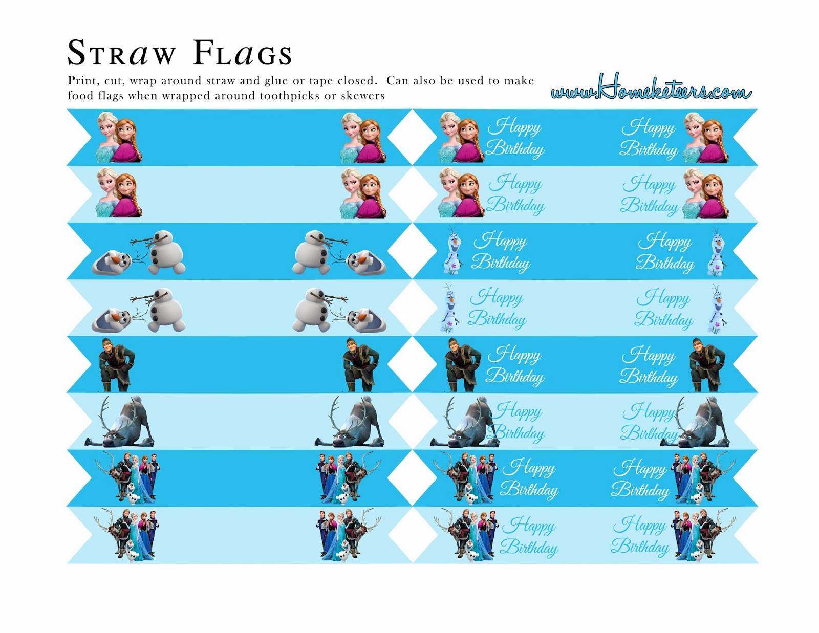 Frozen Party: Free Printables. | Oh My Fiesta! in english