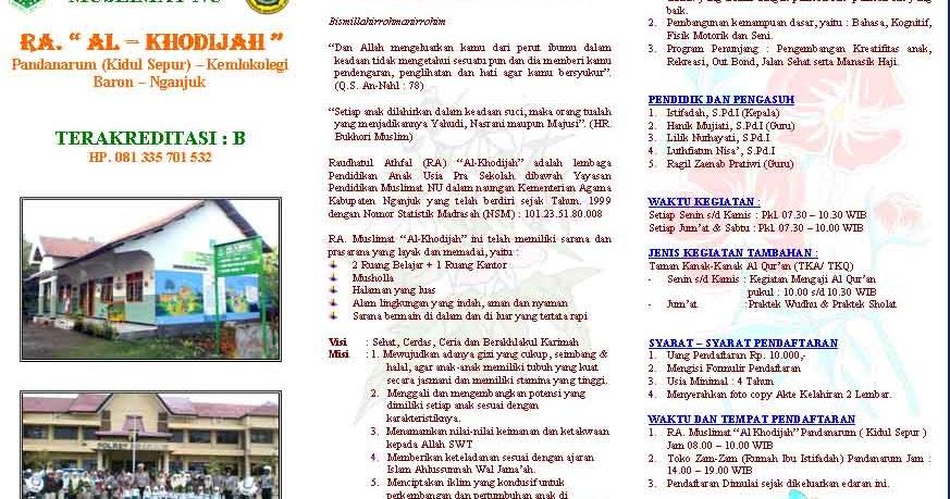 Aneka info: Contoh Brosur Tk tinggal rubah isi