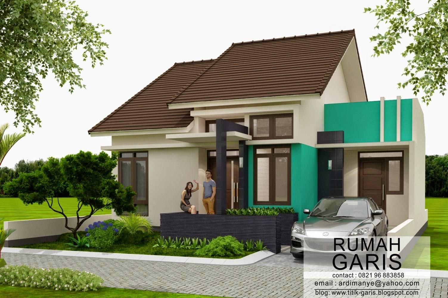 Desain Rumah Tipe  Di Lahan X Meter Rumah Garis
