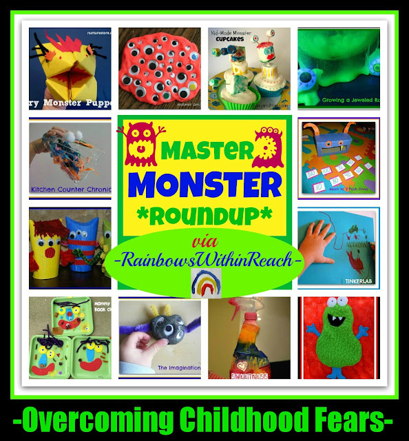 photo of: Overcoming Childhood Fears: Monsters thru Art, Fine Motor, Math and Science (Math RoundUP from RainbowsWithinReach) 