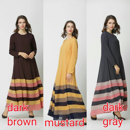 Color block Jubah Dengan Color Color Baru. Rekaan Terkini PAstinya Anda Yang Paling Menawan
