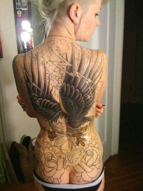 Back Wings Tattoo