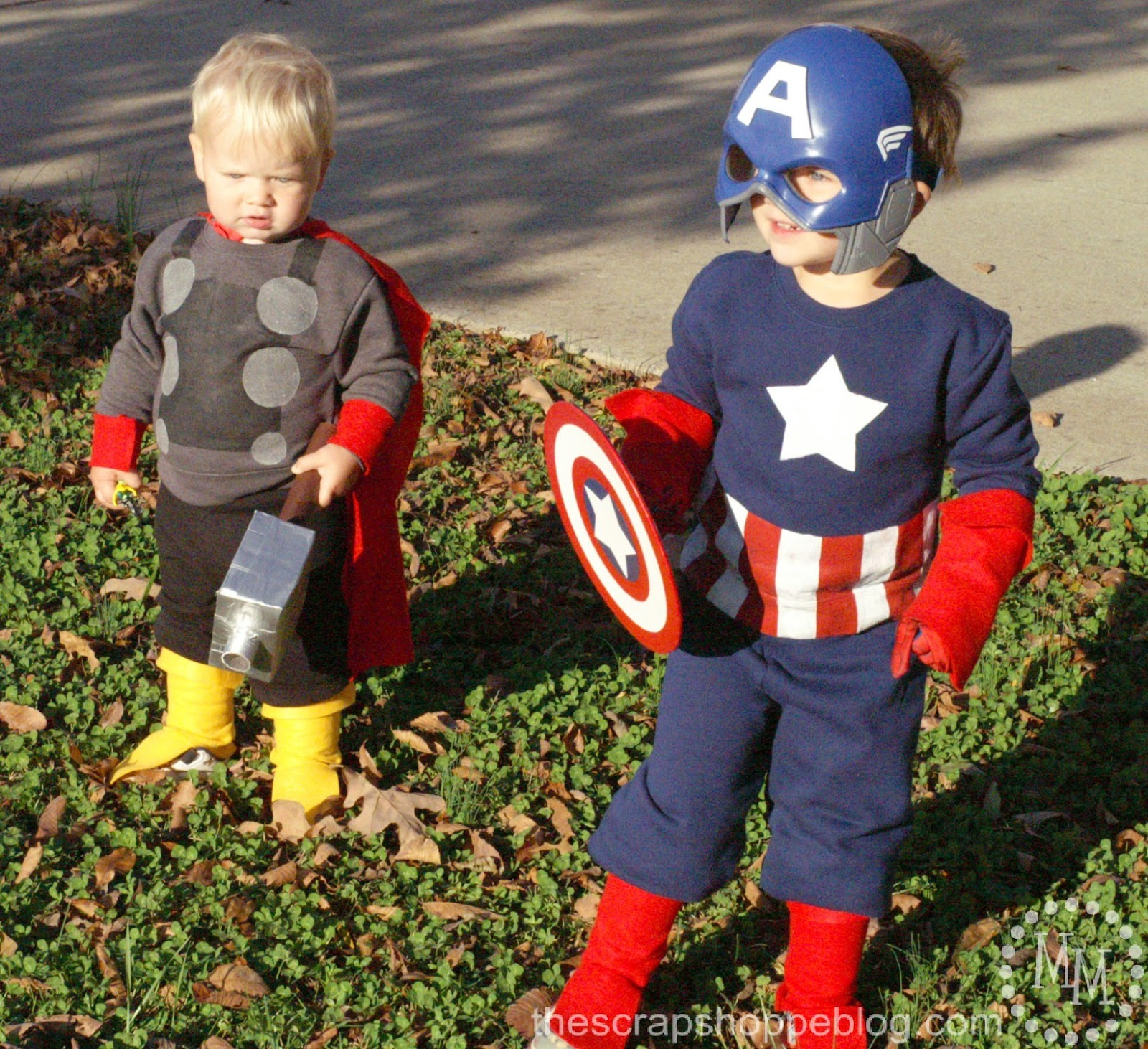 Diy captain america thor costumes the scrap shoppe his pants are also rolled under to the top of his boots solutioingenieria Gallery