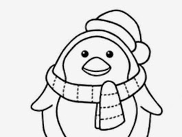 Penguin Coloring Page Free