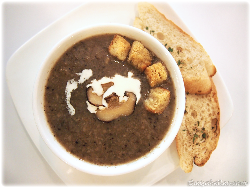 Roasted mushroom soup at Signature Cafearo