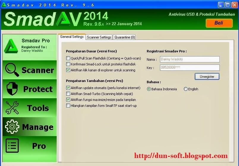Download Antivirus Smadav Pro 2014 Rev. 9.6.1 Full Keygen