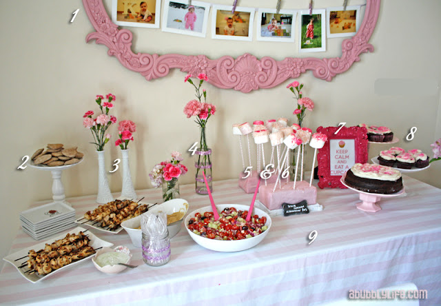 Bubbly Life: Pink Girly Budget DIY First Birthday!