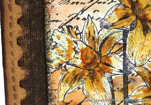 Layers of ink - Dear Daffodils Card by Anna-Karin
