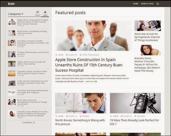 Editr - Blog/Magazine WordPress Theme