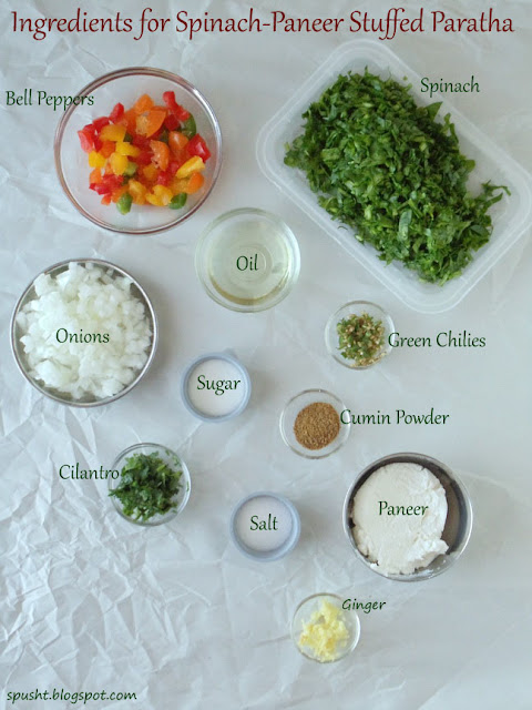 Spusht | Ingredients for Palak Paneer Stuffed Paratha