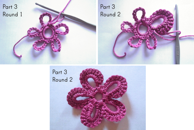 funky flower crochet pattern