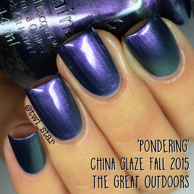 China Glaze The Great Outdoors Fall 2015 Pondering