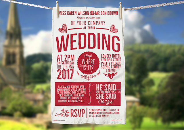 Letter Press Wedding invitation