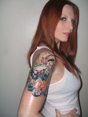 Sleeve Tattoos on She9 For Girls Fshion  Half Sleeve Tattoos For Women