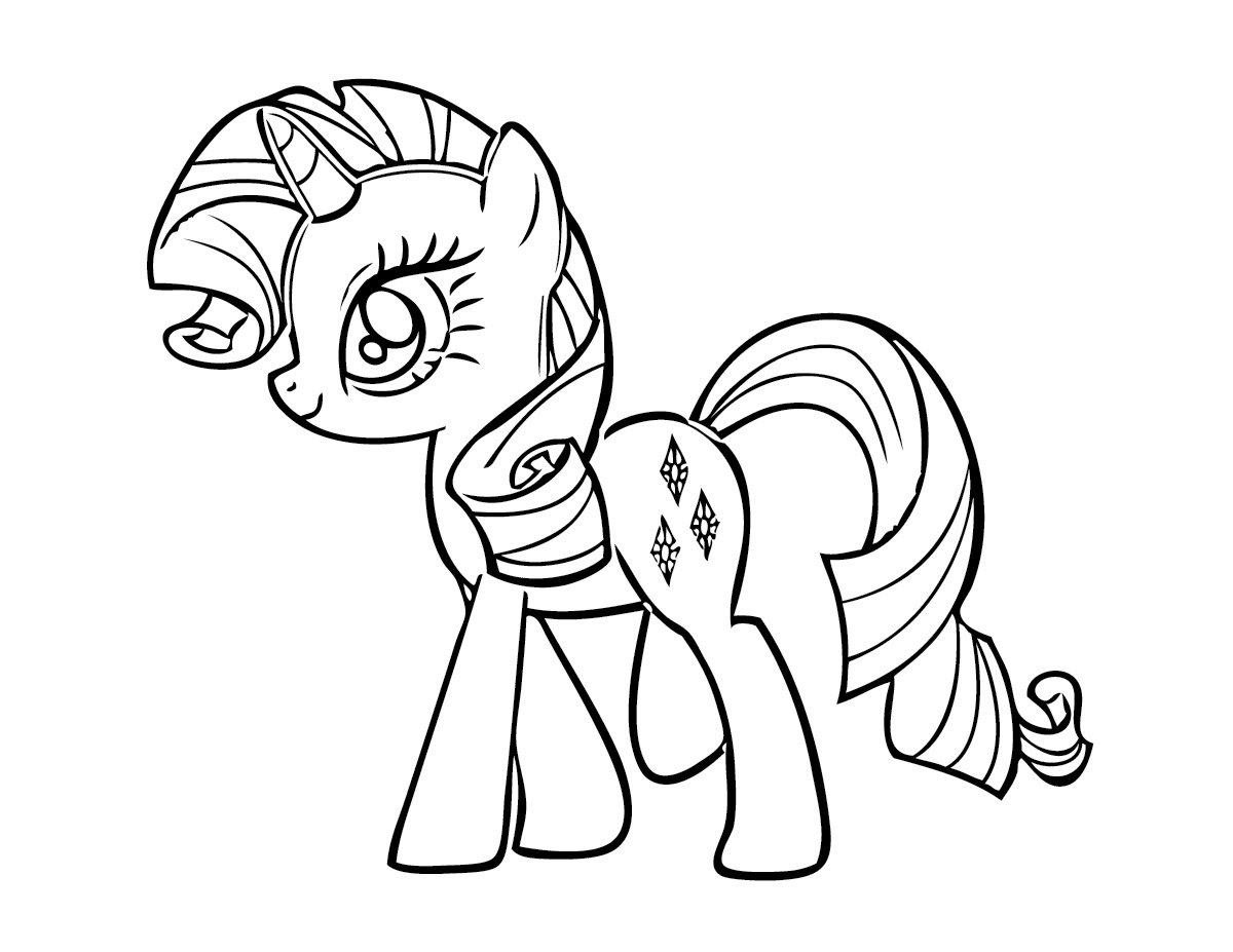 My little pony unicorn coloring pages - My Little Pony Unicorn Coloring Pages 5