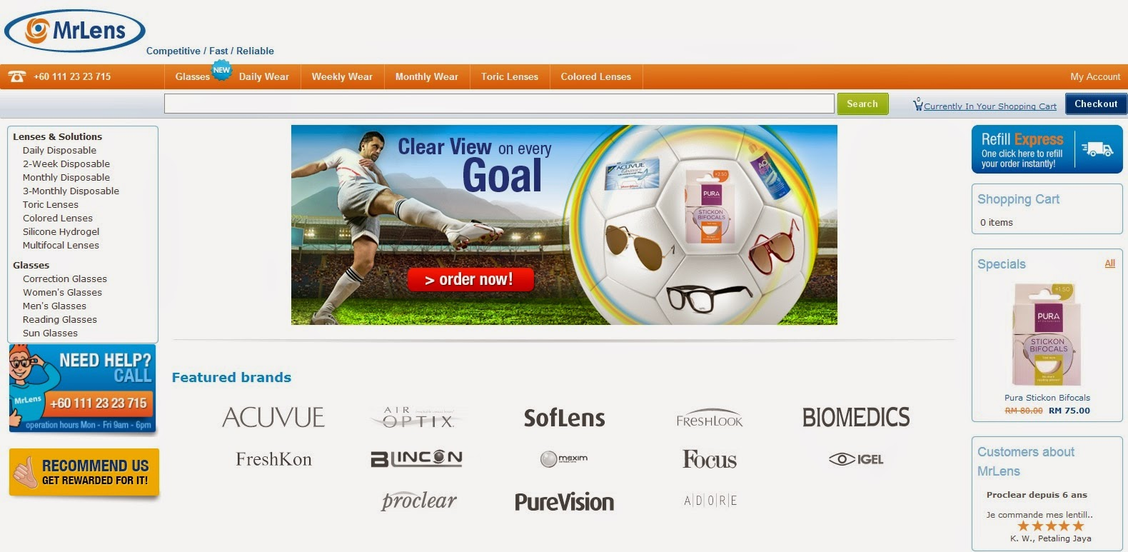 online contact lens reseller