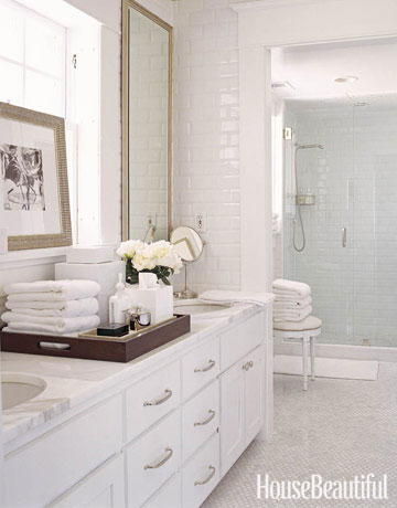 spa-like bathrooms - clean and white