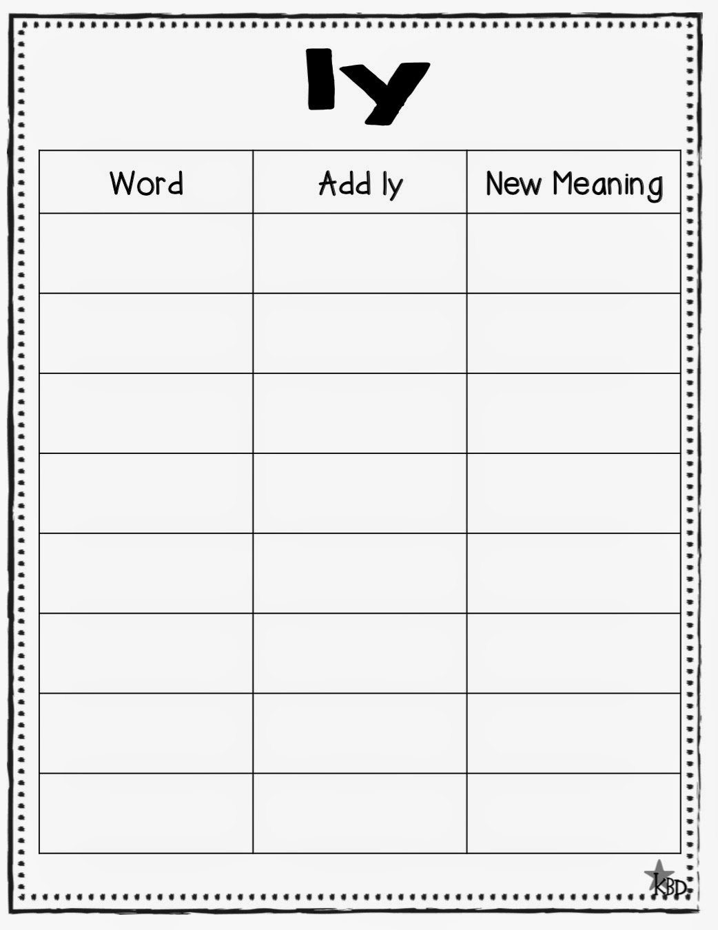 ... ful less ly anchor chart ful less worksheet ful less ly worksheet