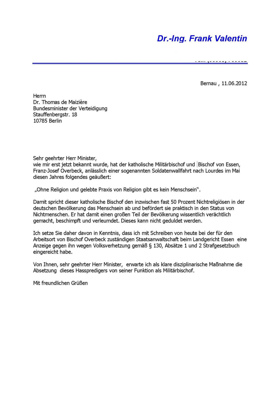 Offizielle Briefe Auf Deutsch Schreiben : Vallis ins gehirn gepieselt