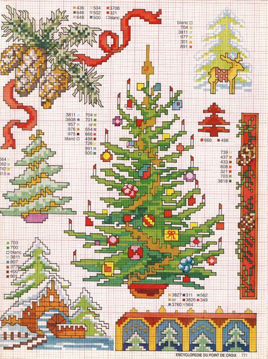 Рождественская елка схема вышивки