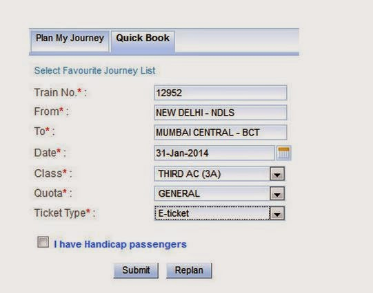 fast train ticket booking