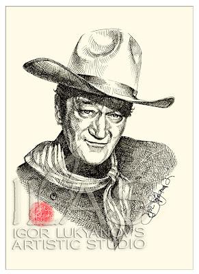 John Wayne, portrait