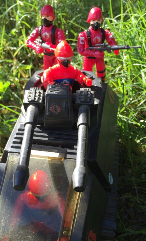 1983 Hiss Driver, Hiss Tank, Black Major Crimson Cobra Trooper, Bootleg, Custom