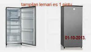 daftar harga kulkas 1 pintu baru