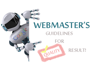 Webmaster guidelines for quality results in seo