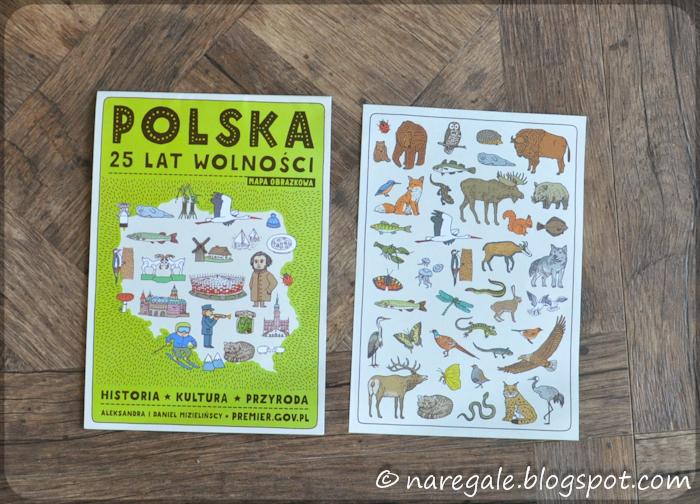 Mapa - Polska 25 lat wolności