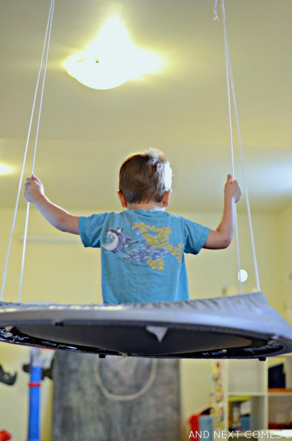 Easy diy platform swing sensory hack for kids and next for Diy kids swing