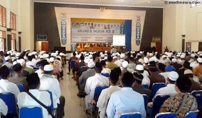 Suasana di Aula Asrama Haji, tempat dilangsungkannya Mubes HUDA ke-2.