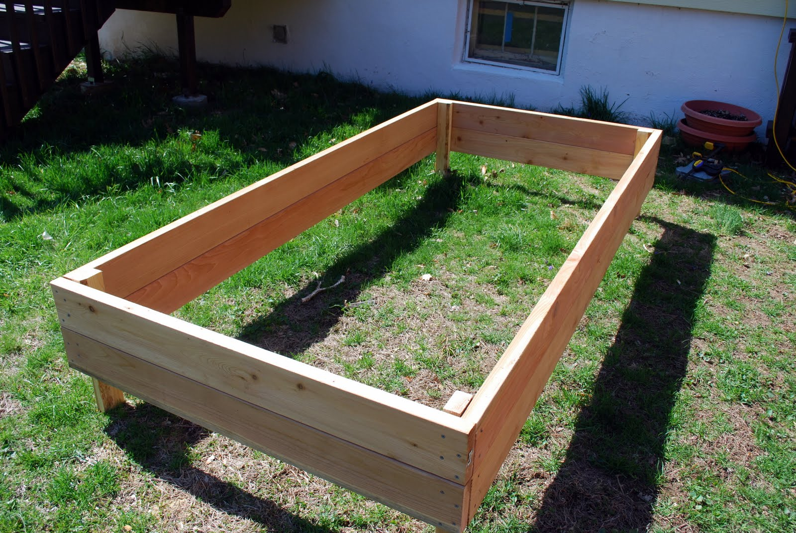 In The Little Yellow House Raised Garden Beds 3 Out Of 4 Done